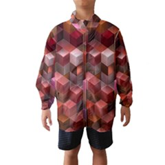 Artistic Cubes 9 Pink Red Wind Breaker (kids) by MoreColorsinLife