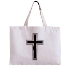 Christian Cross Zipper Mini Tote Bag