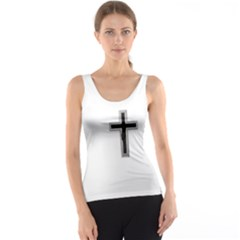 Red Christian Cross Tank Top by igorsin