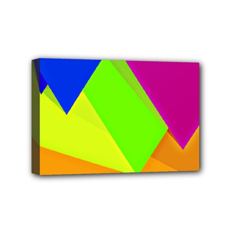 Geo Fun 15 Mini Canvas 6  X 4  by MoreColorsinLife