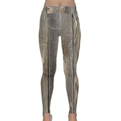 Wood Fence Yoga Leggings