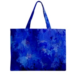 Splashes Of Color, Blue Zipper Tiny Tote Bags