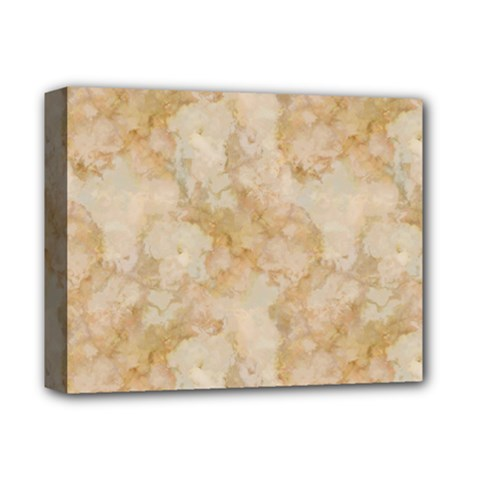 Tan Marble Deluxe Canvas 14  X 11  by trendistuff