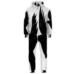 Hovering Crow Hooded Jumpsuit (men)