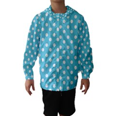 Sky Blue Polka Dots Hooded Wind Breaker (kids) by creativemom