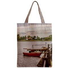 Santa Lucia River In Montevideo Uruguay Zipper Classic Tote Bags by dflcprints