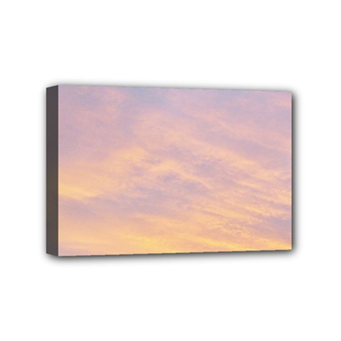 Yellow Blue Pastel Sky Mini Canvas 6  X 4  by Costasonlineshop