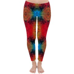 Colorful Goa   Painting Winter Leggings  by Costasonlineshop
