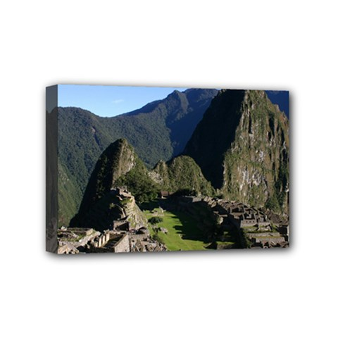 Machu Picchu Mini Canvas 6  X 4  by trendistuff