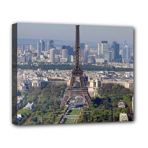 Eiffel Tower 2 Deluxe Canvas 20  X 16   by trendistuff