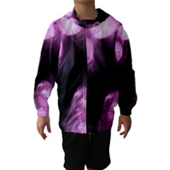Purple Circles No  2 Hooded Wind Breaker (kids) by timelessartoncanvas