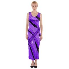 Purple Fern Fitted Maxi Dress