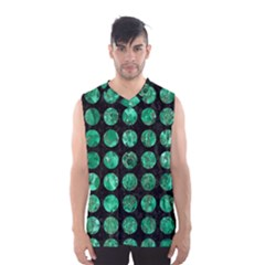 Circles1 Black Marble & Green Marble (r) Men s Basketball Tank Top by trendistuff