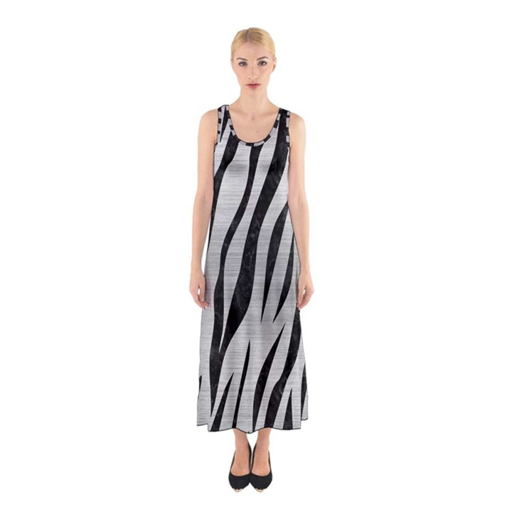 SKN3 BK MARBLE SILVER (R) Full Print Maxi Dress