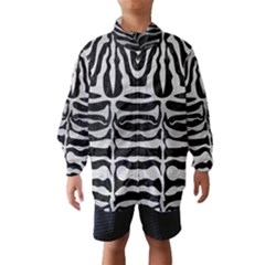 Skin2 Black Marble & Silver Brushed Metal Wind Breaker (kids) by trendistuff