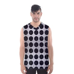 Circles1 Black Marble & Silver Brushed Metal (r) Men s Basketball Tank Top by trendistuff