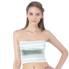 Baby Blue And White Stripes Tube Top by timelessartoncanvas