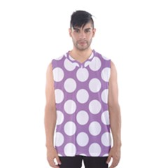Lilac Polkadot Men s Basketball Tank Top by Zandiepants