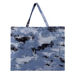 Abstract #3 Zipper Large Tote Bag by Uniqued