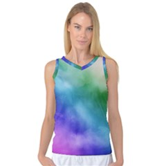 Rainbow Watercolor Women s Basketball Tank Top