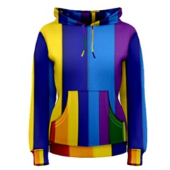 Rainbow Painting On Wood Women s Pullover Hoodie