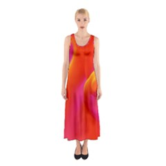 Orange Cream Sleeveless Maxi Dress