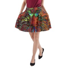 Boho Bohemian Hippie Floral Abstract A Line Pocket Skirt by CrypticFragmentsDesign