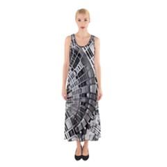 Semi Circles Abstract Geometric Modern Art Sleeveless Maxi Dress