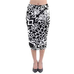 Coloring70swallpaper Midi Pencil Skirt by KirstenStar