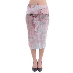 Coral Pink Abstract Background Texture Midi Pencil Skirt by CrypticFragmentsDesign