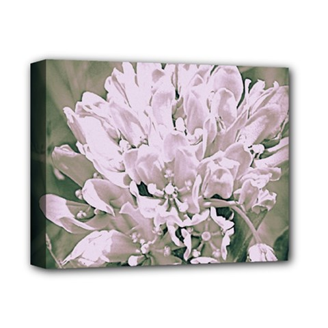 White Flower Deluxe Canvas 14  X 11  by uniquedesignsbycassie