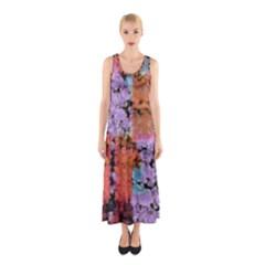 Paint Texture                                     Full Print Maxi Dress