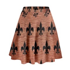 Ryl1 Bk Marble Copper High Waist Skirt