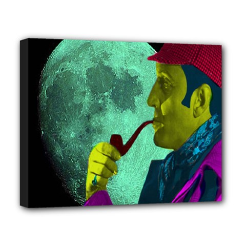 Sherlock Holmes Deluxe Canvas 20  X 16   by icarusismartdesigns