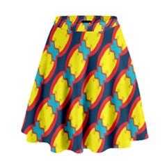 Blue X Chains                                                       High Waist Skirt