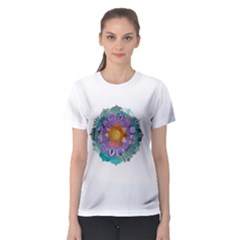 Radiant Lotus Mandala Women s Sport Mesh Tee by Contest2484365