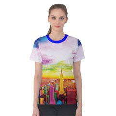 Nyc Full Color Women s Cotton Tee by gumacreative