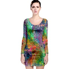 Reality Is Melting Long Sleeve Bodycon Dress