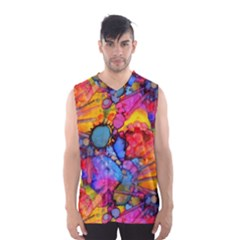 Rainbow Bursts Alcohol Inks Men s Basketball Tank Top by KirstenStar