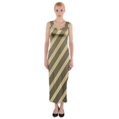 Golden Elegant Lines Fitted Maxi Dress