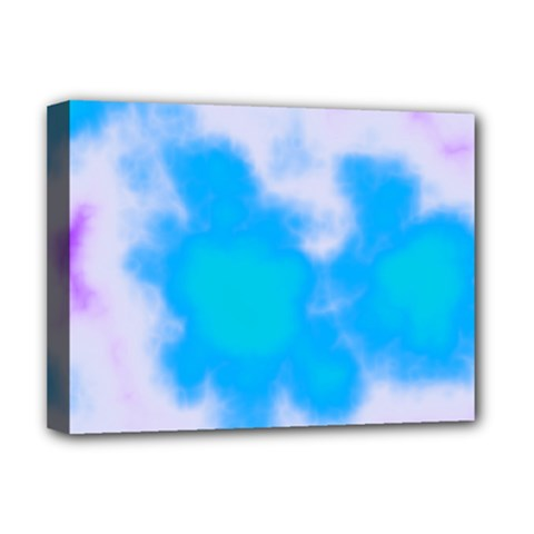 Blue And Purple Clouds Deluxe Canvas 16  X 12   by TRENDYcouture