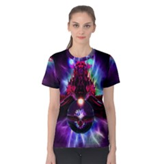 """dragon Orb"" By Spaced Painter Women s Cotton Tee by SpacedPainterArt"