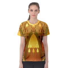 """arabian Delights"" By Spaced Painter Women s Sport Mesh Tee by SpacedPainterArt"