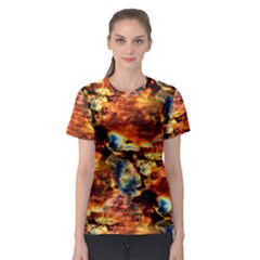 Natural Sunset Happy Mother Earth Women s Sport Mesh Tee by Contest2387402