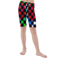 Colorful Abstraction Kid s Mid Length Swim Shorts by Valentinaart