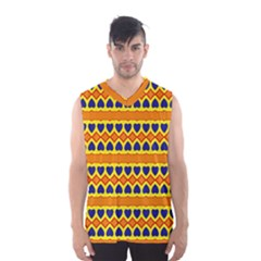Hearts And Rhombus Pattern                                                                                          Men s Basketball Tank Top by LalyLauraFLM