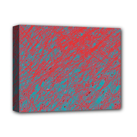 Red and blue pattern Deluxe Canvas 14  x 11  by Valentinaart