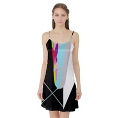 Colorful Abstraction Satin Night Slip by Valentinaart