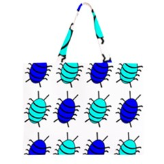 Blue Bugs Zipper Large Tote Bag by Valentinaart