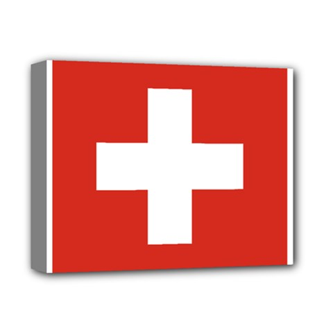 National Flag Of Switzerland Deluxe Canvas 14  X 11  by abbeyz71